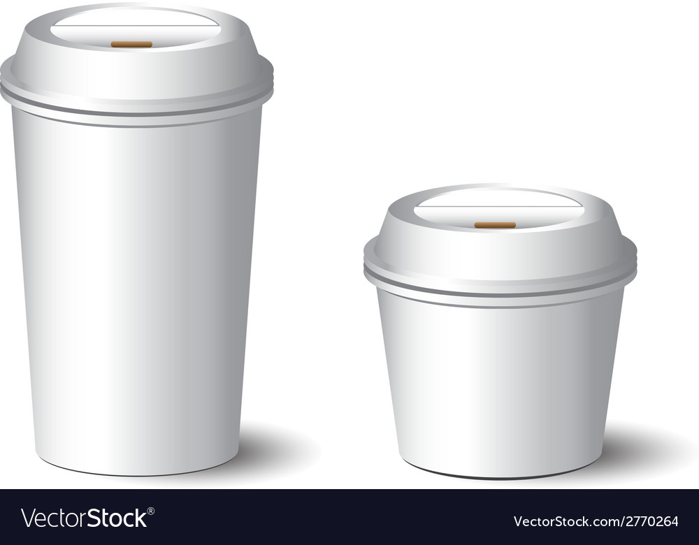 White paper cup vector | Price: 1 Credit (USD $1)