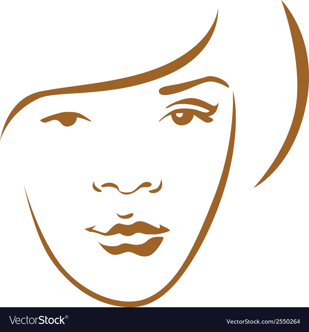 Woman head contour vector | Price: 1 Credit (USD $1)
