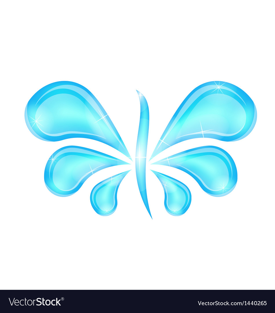 Abstract butterfly stylized water splash drops vector | Price: 1 Credit (USD $1)