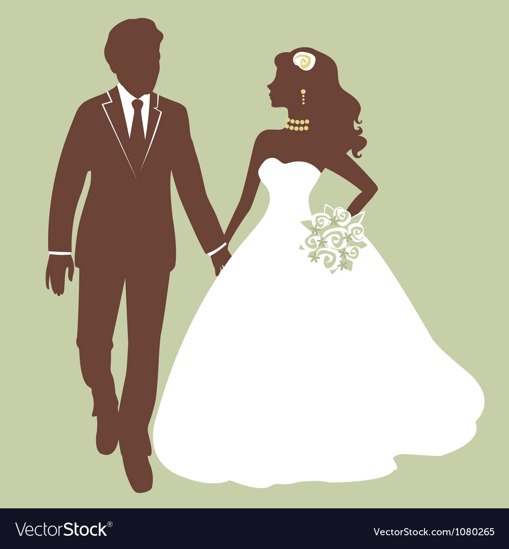 Beautiful wedding couple vector | Price: 1 Credit (USD $1)