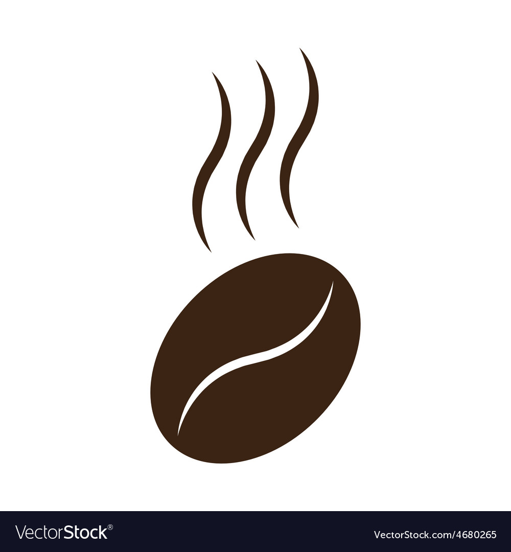 Coffee bean with steam vector | Price: 1 Credit (USD $1)