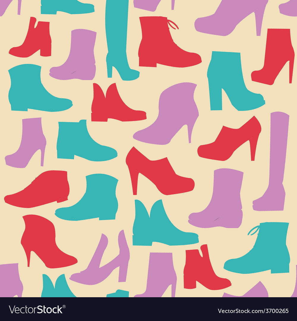 Fashion shoes background simplicity vector | Price: 1 Credit (USD $1)