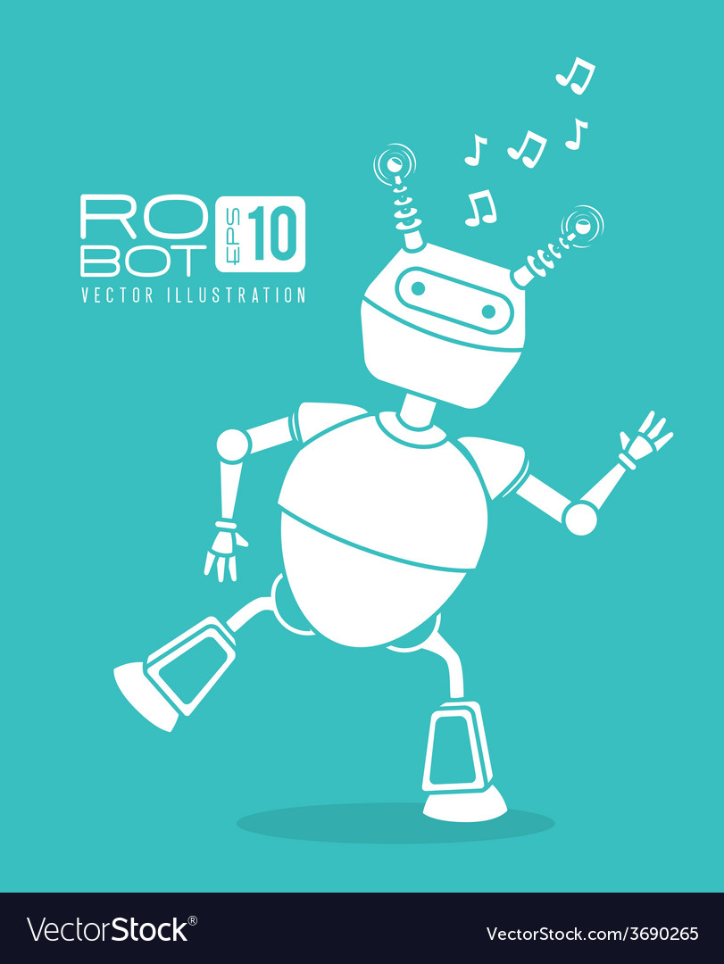 Robot design over blue background vector | Price: 1 Credit (USD $1)