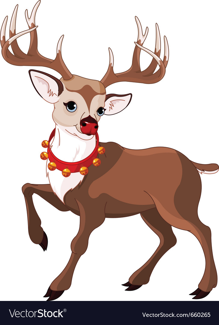 Rudolf the red nosed reindeer vector | Price: 3 Credit (USD $3)