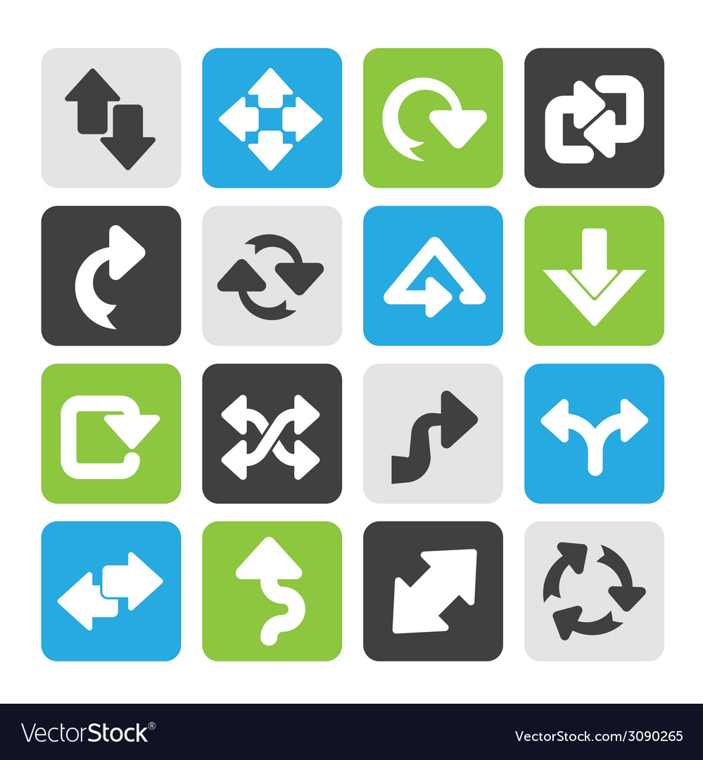 Silhouette different kind of arrows icons vector | Price: 1 Credit (USD $1)