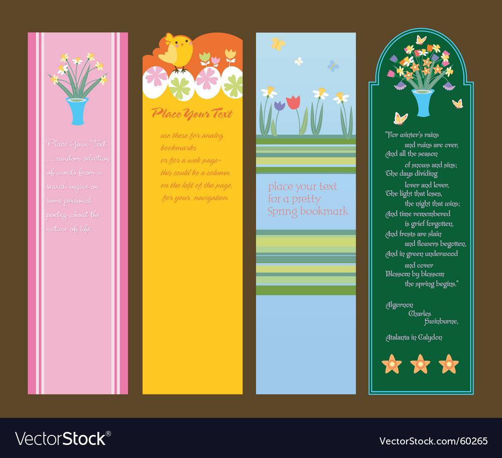 Spring sidebars vector | Price: 1 Credit (USD $1)