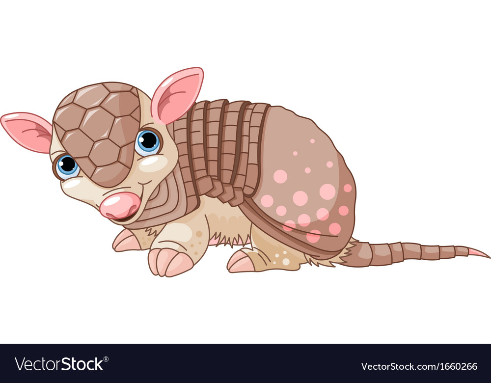 Armadillo cartoon vector | Price: 1 Credit (USD $1)