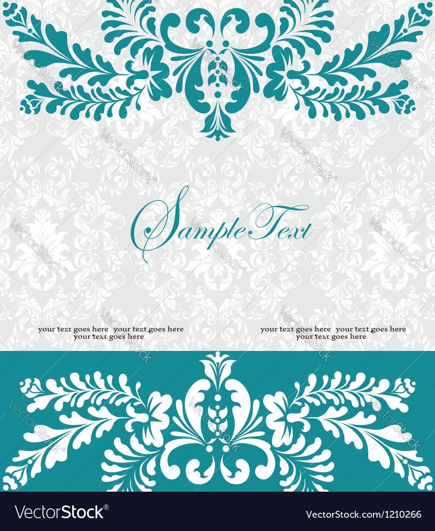 Blue swirly invitation card vector   Price: 1 Credit (USD $1)