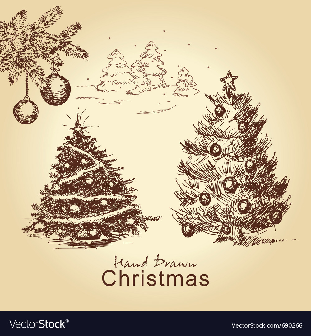 Christmas vintage set vector | Price: 1 Credit (USD $1)
