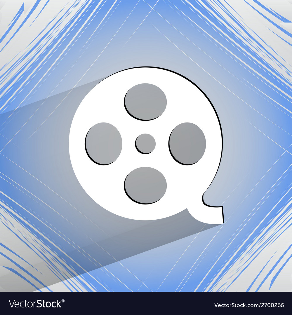 Film icon flat modern design on geometric abstract vector | Price: 1 Credit (USD $1)
