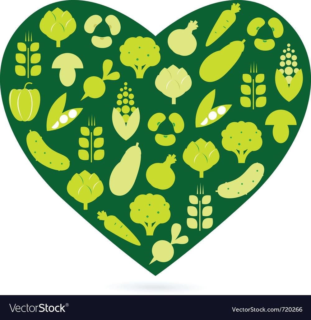 Healthy food heart vector | Price: 1 Credit (USD $1)