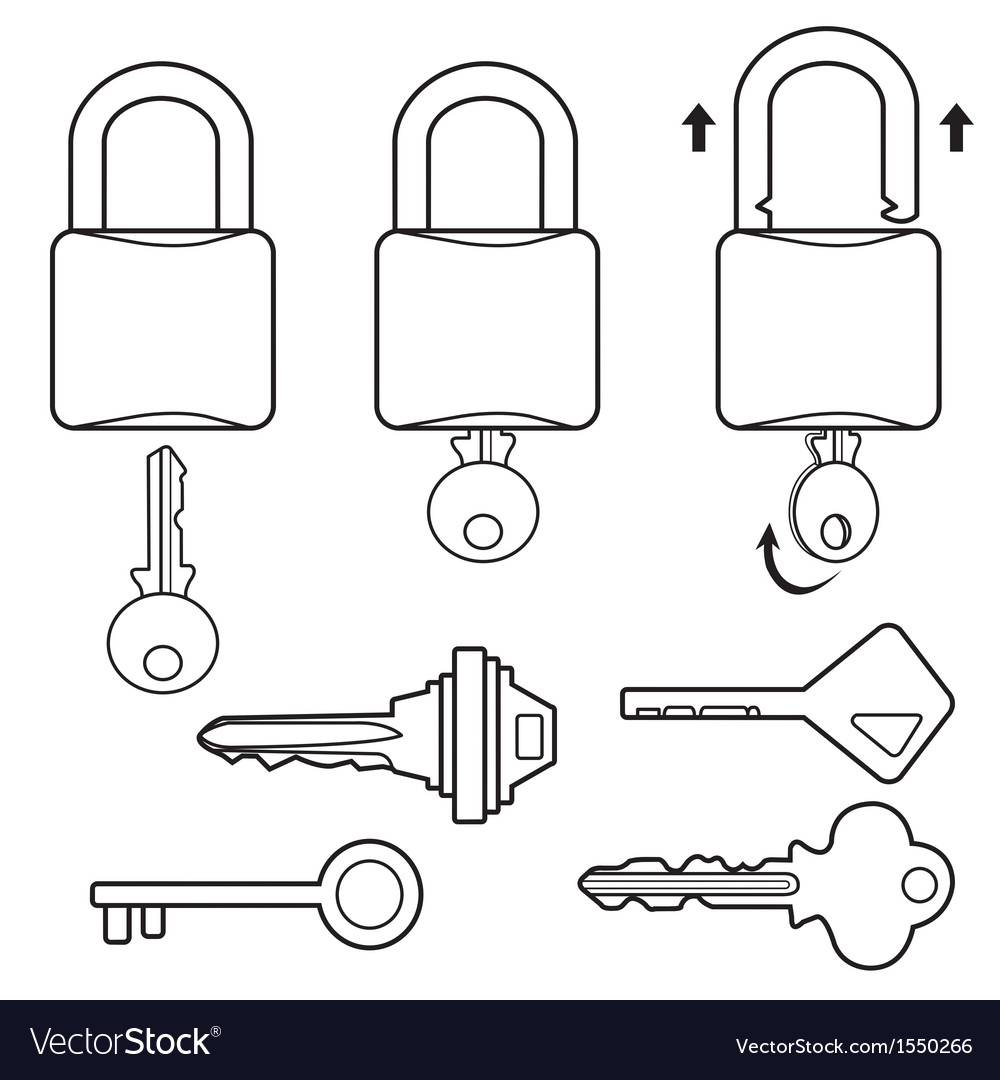 Key outline vector | Price: 1 Credit (USD $1)