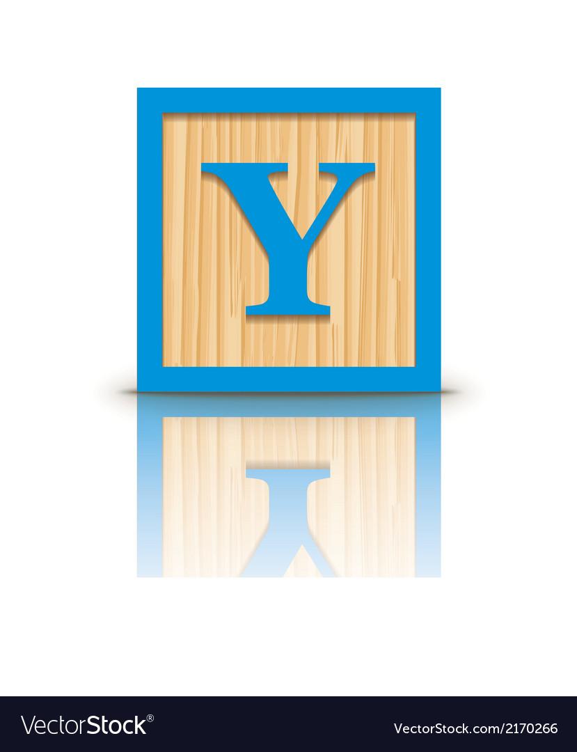 Letter y wooden alphabet block vector | Price: 1 Credit (USD $1)
