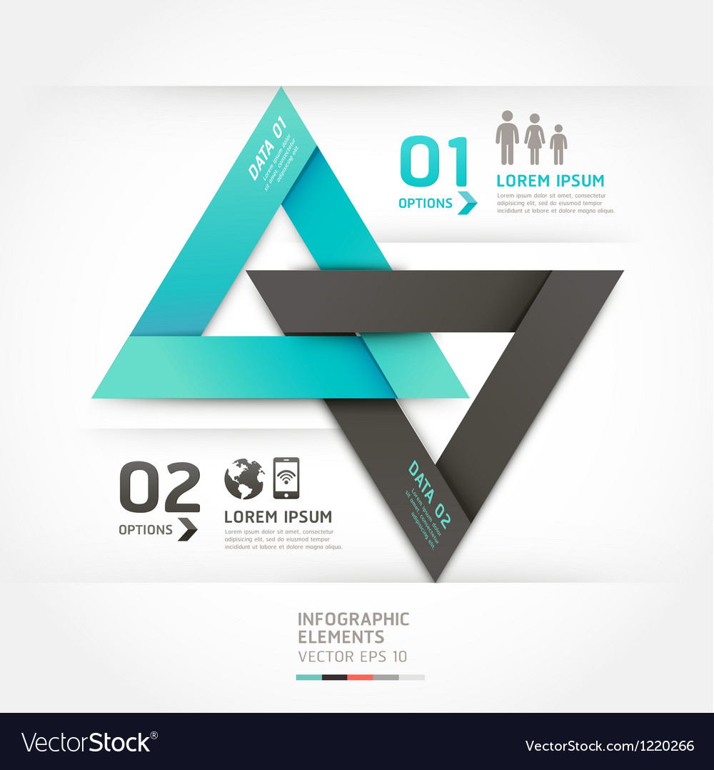 Modern arrow communication origami style vector | Price: 3 Credit (USD $3)