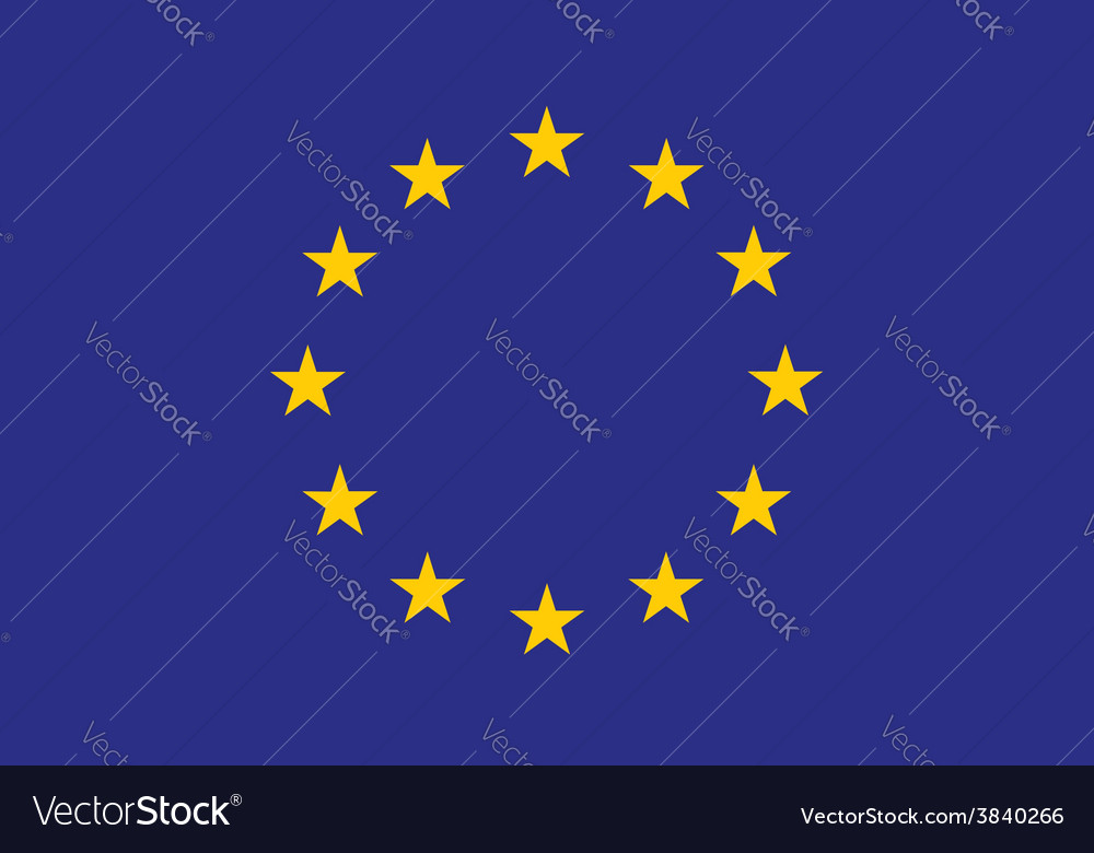 Original and simple europe flag eu isolated in vector   Price: 1 Credit (USD $1)