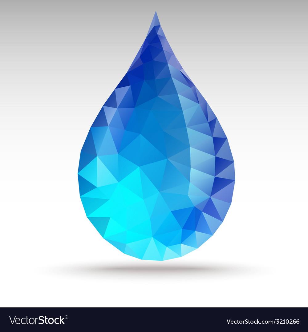 Polygonwaterdrop vector   Price: 1 Credit (USD $1)
