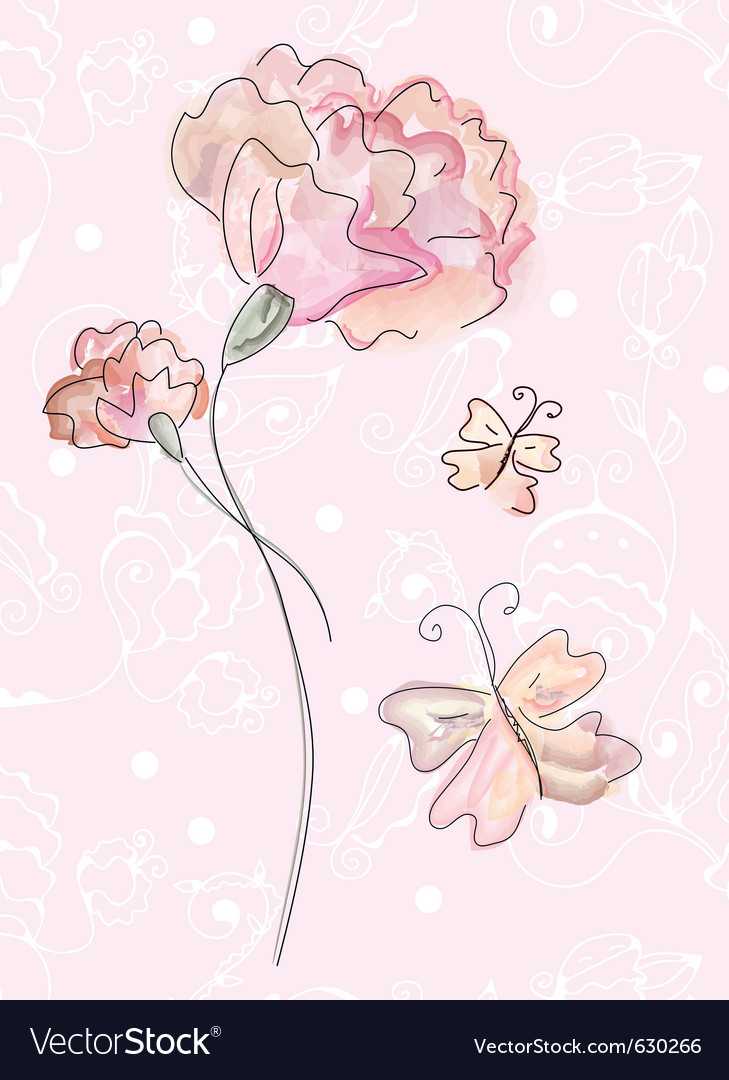 Rose drawing vector | Price: 1 Credit (USD $1)