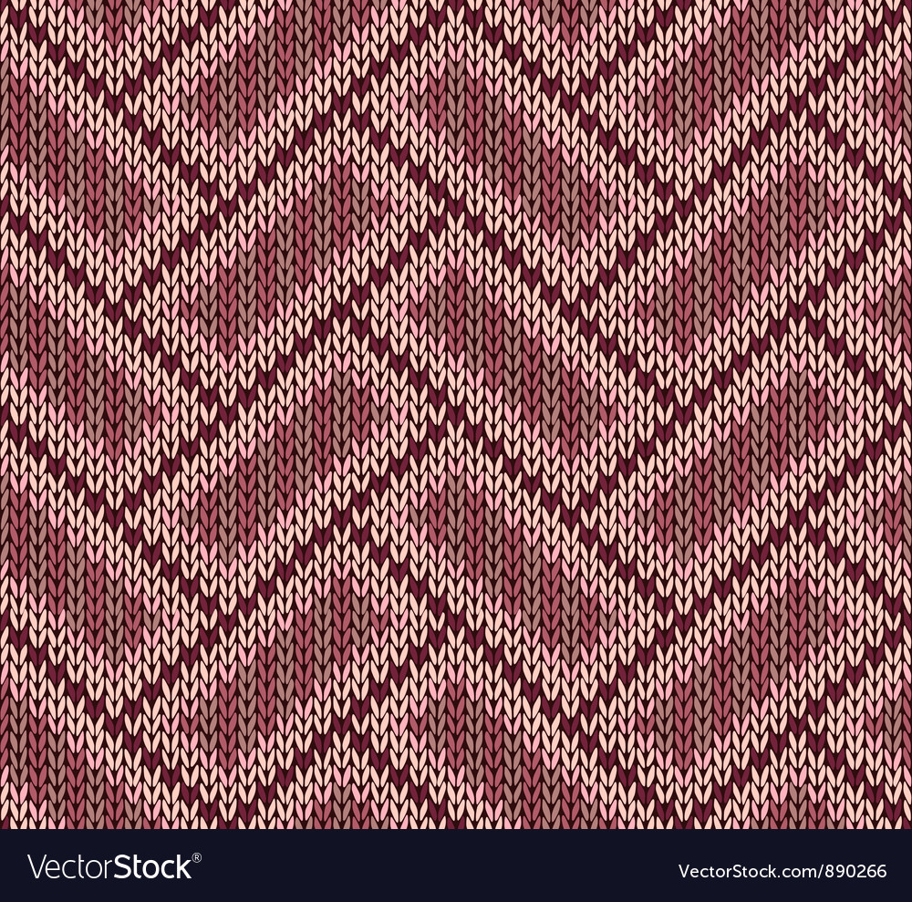 Style seamless brown red pink color knitted patter vector   Price: 1 Credit (USD $1)