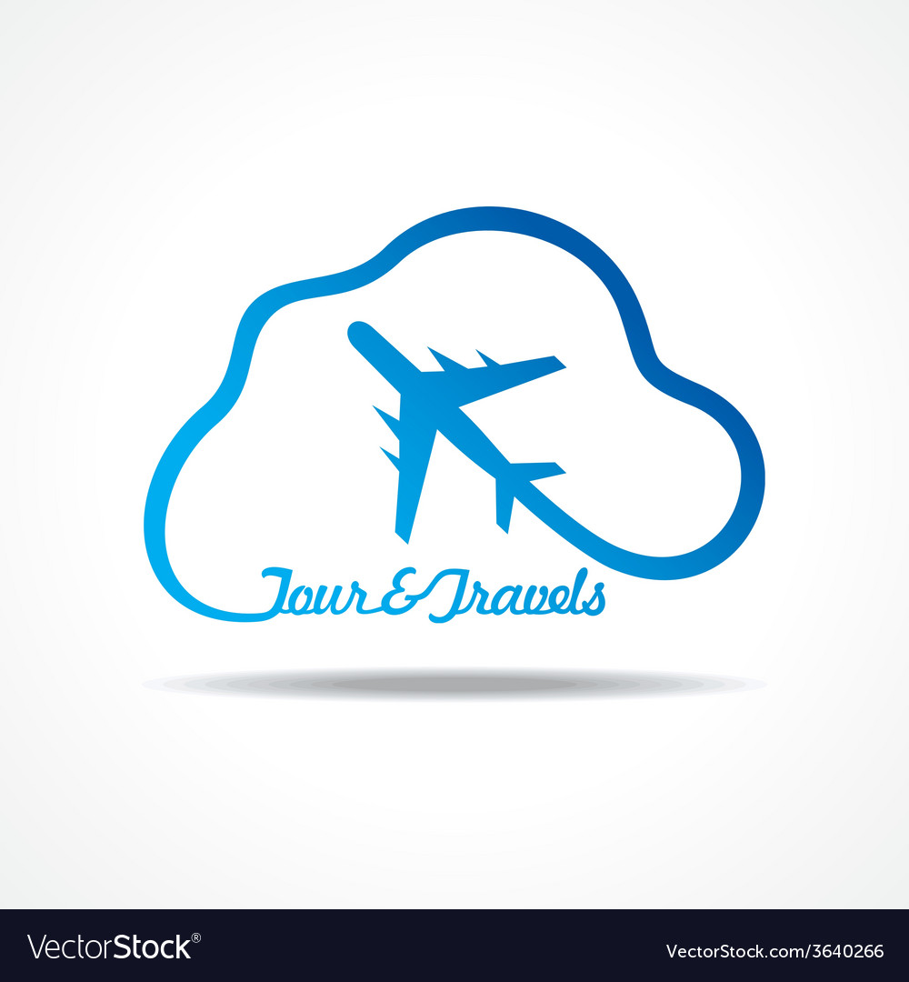 Tour and tourism icon with cloud stock vector | Price: 1 Credit (USD $1)