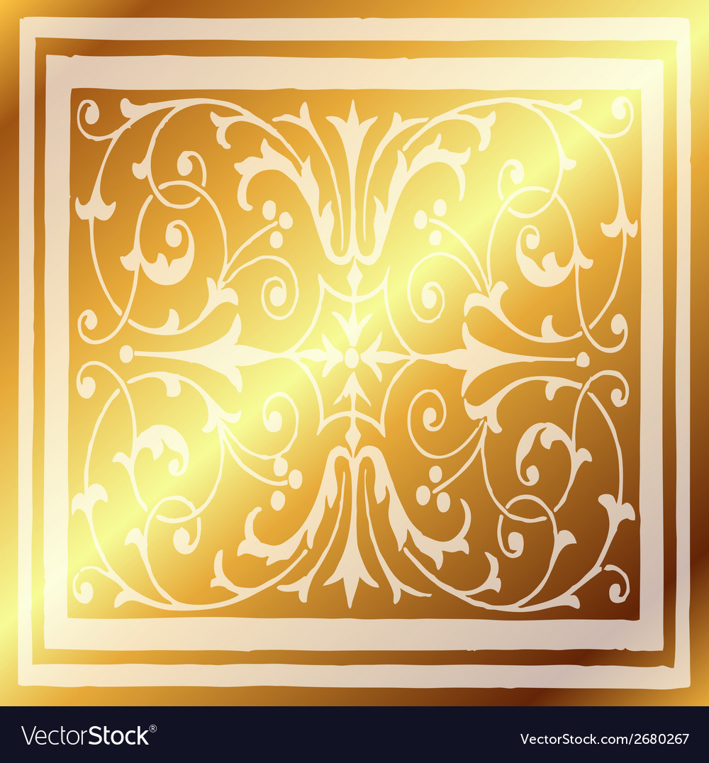 Abstract gold light background of elegant vintage vector | Price: 1 Credit (USD $1)