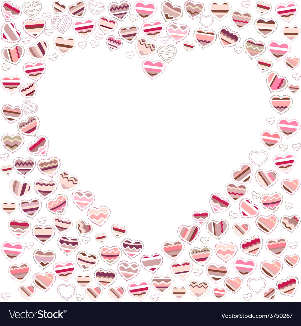 Blank empty heart made of small ones vector | Price: 1 Credit (USD $1)