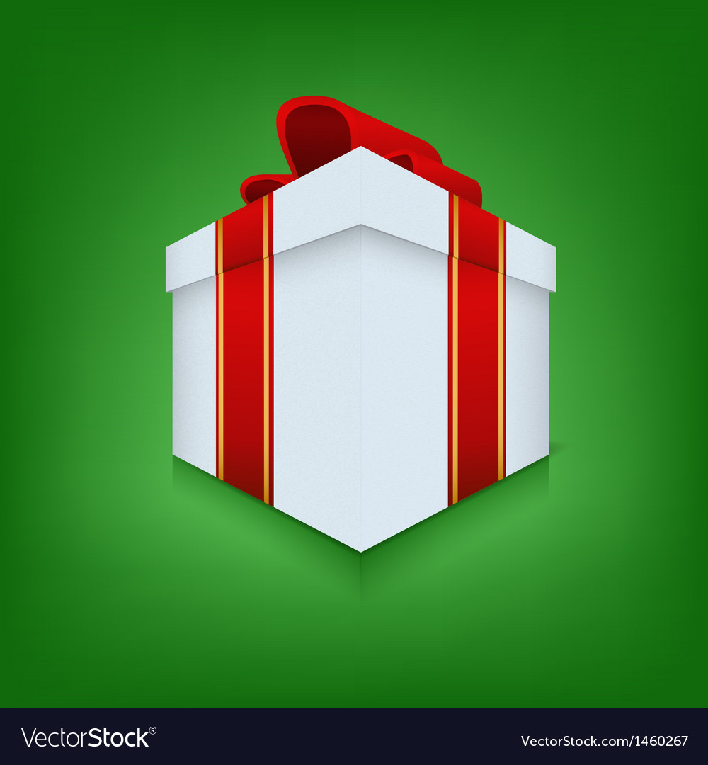 Box icon with ribbon vector | Price: 1 Credit (USD $1)