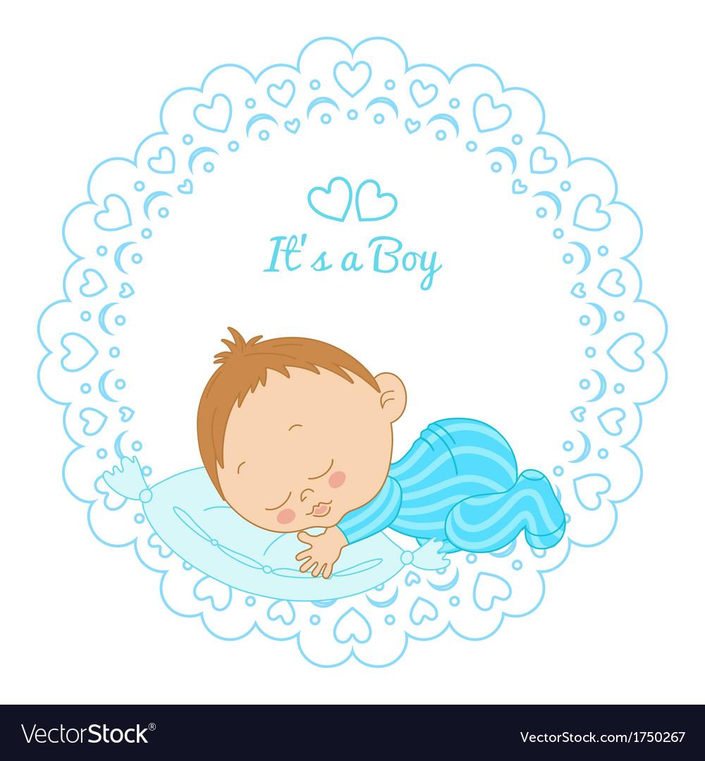 Card with birthday boy vector | Price: 1 Credit (USD $1)