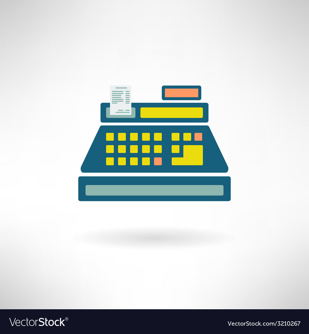 Cashier counter in modern flat design supermarket vector | Price: 1 Credit (USD $1)