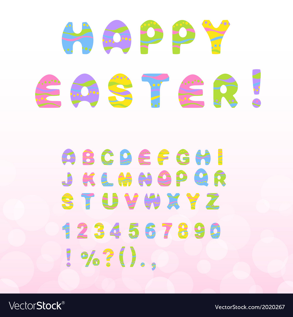 Easter font vector | Price: 1 Credit (USD $1)
