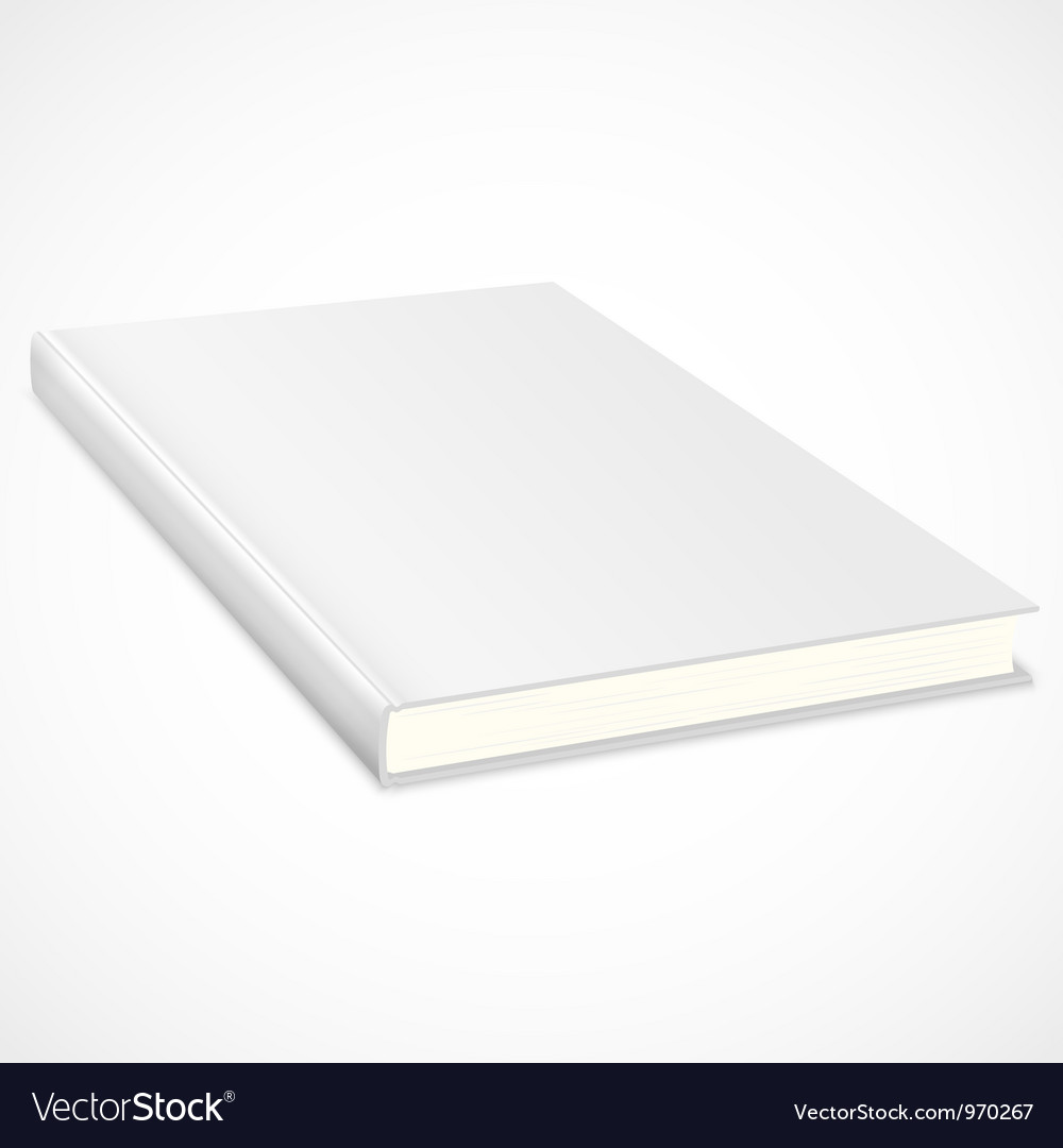 Empty book with white cover vector | Price: 1 Credit (USD $1)