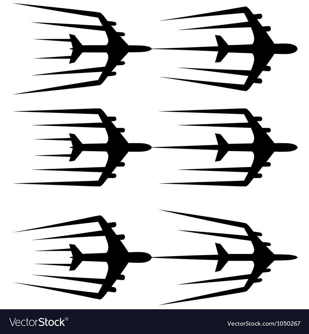 Flying airplane stylized airliner jet vector | Price: 1 Credit (USD $1)