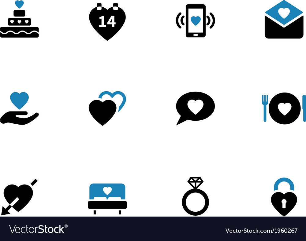 Love duotone icons on white background vector | Price: 1 Credit (USD $1)