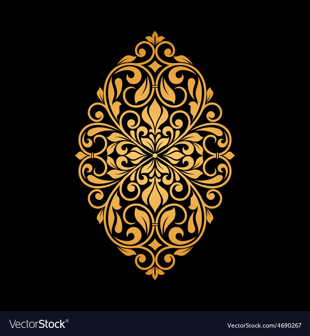 Ornamental floral element for design vector | Price: 1 Credit (USD $1)