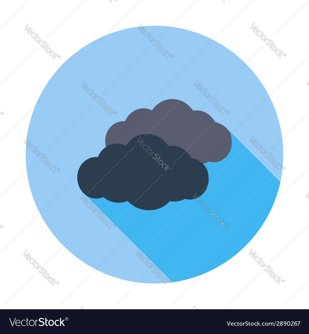 Overcast single flat icon vector | Price: 1 Credit (USD $1)