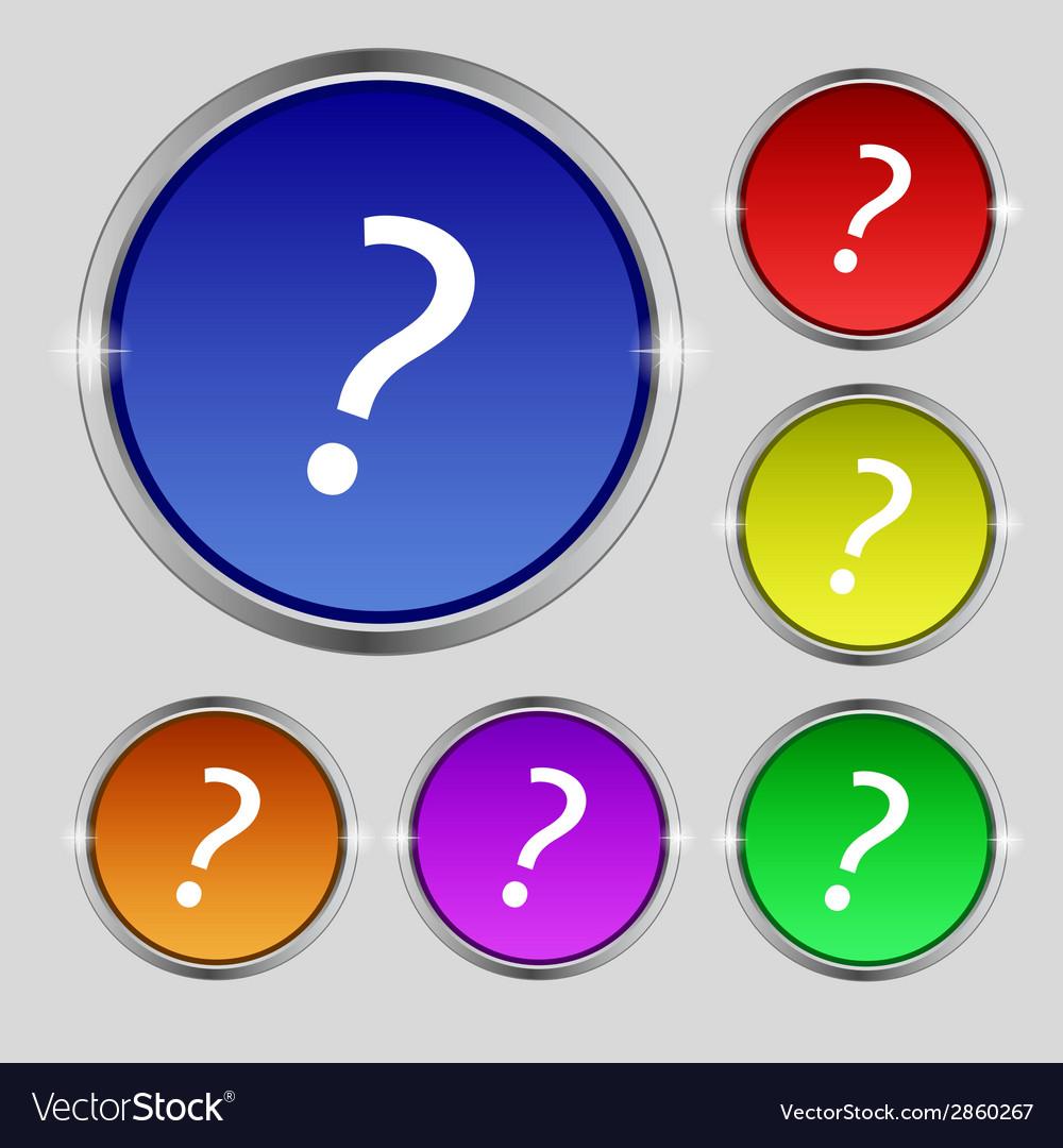Question mark sign icon help symbol faq sign set vector   Price: 1 Credit (USD $1)