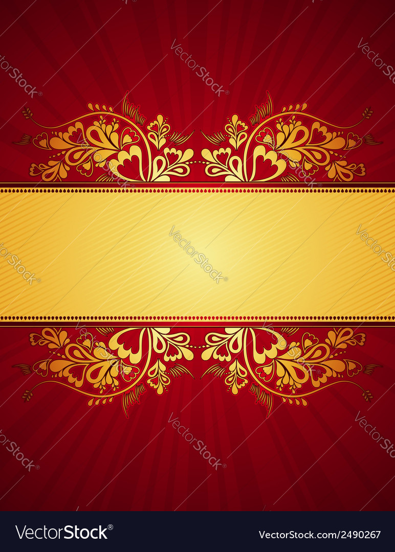 Red antique background vector   Price: 1 Credit (USD $1)