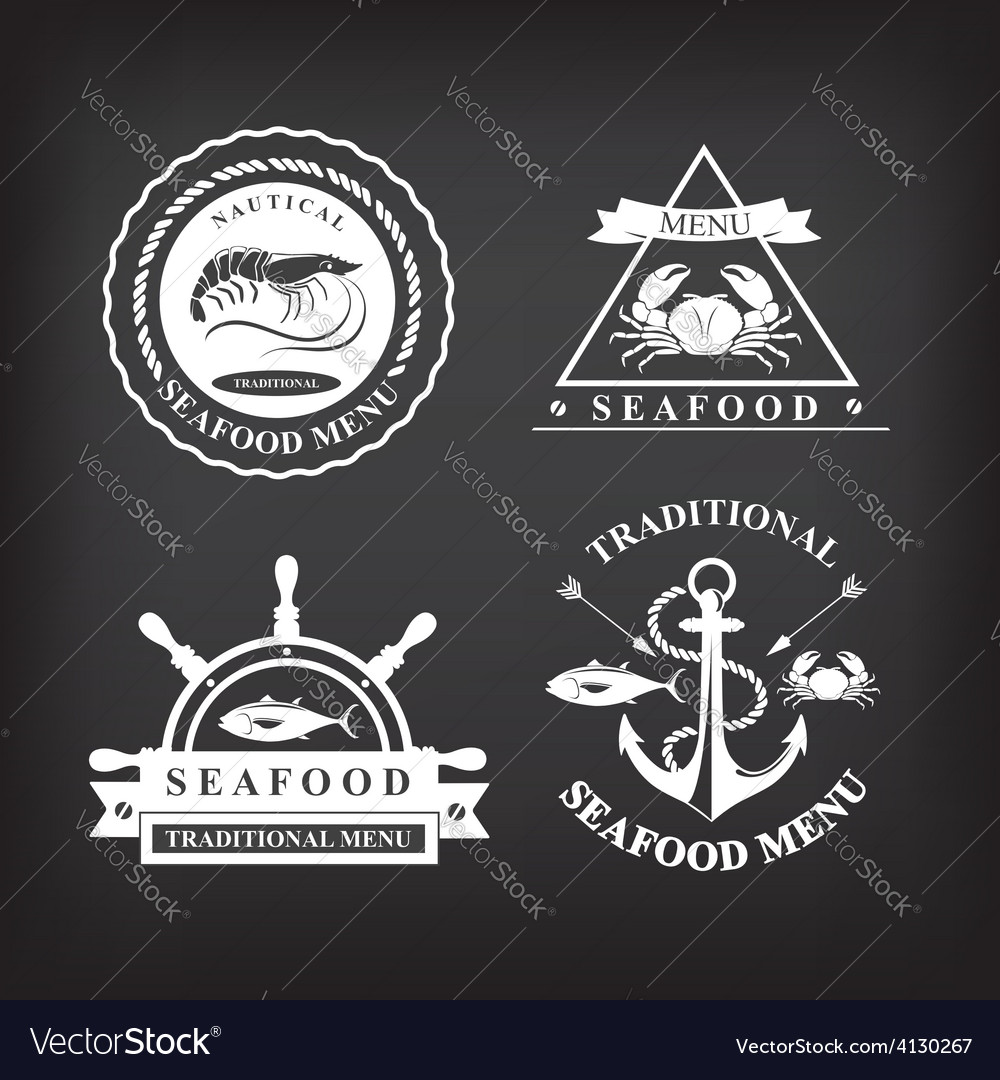 Restaurant menu set of seafood template design vector | Price: 1 Credit (USD $1)