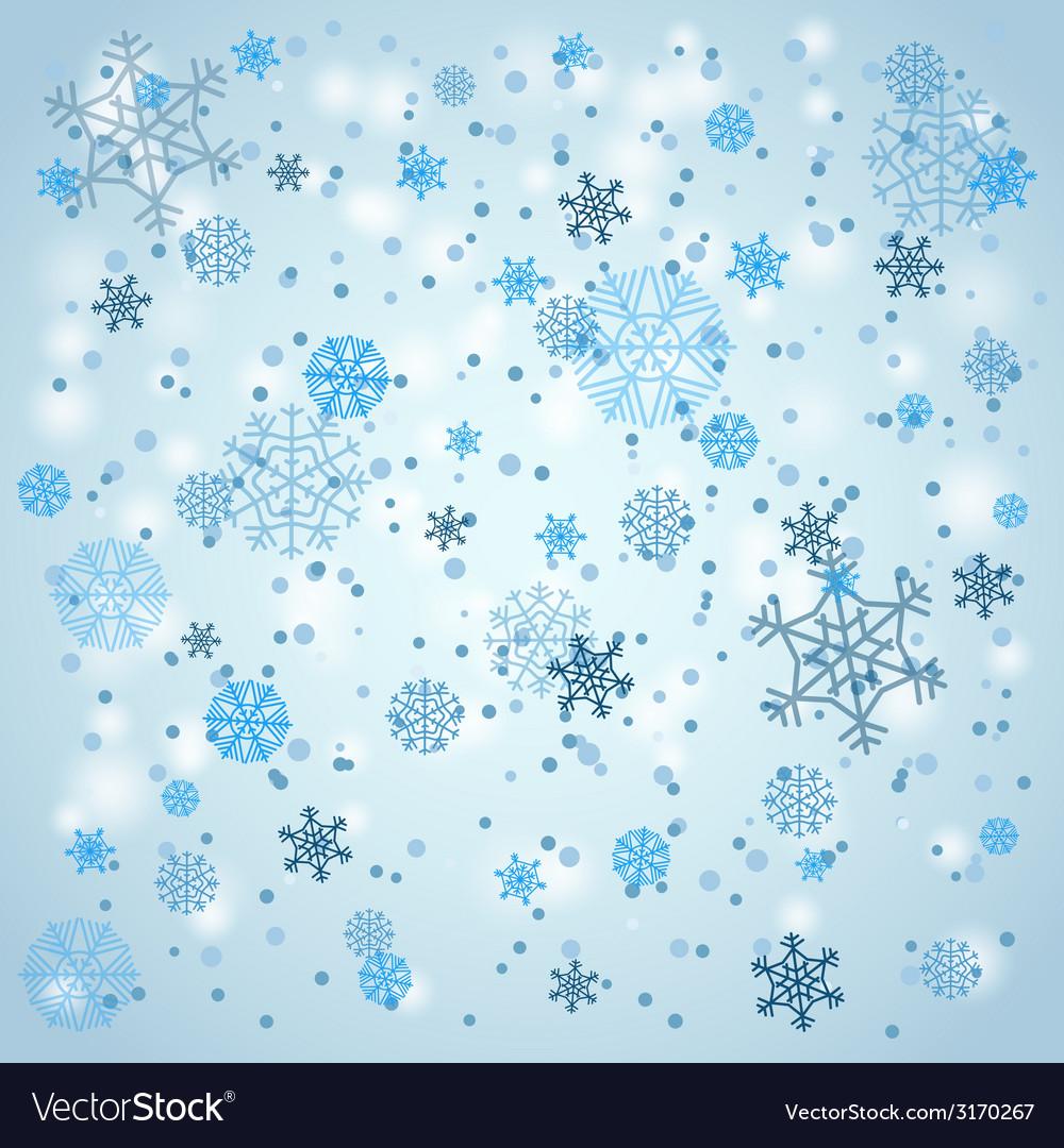 Snowfall in winter vector | Price: 1 Credit (USD $1)