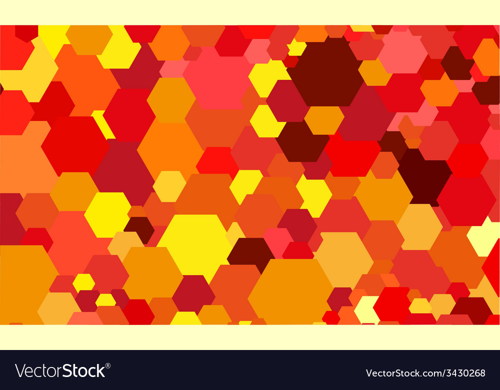 Abstract color hexagon background vector | Price: 1 Credit (USD $1)