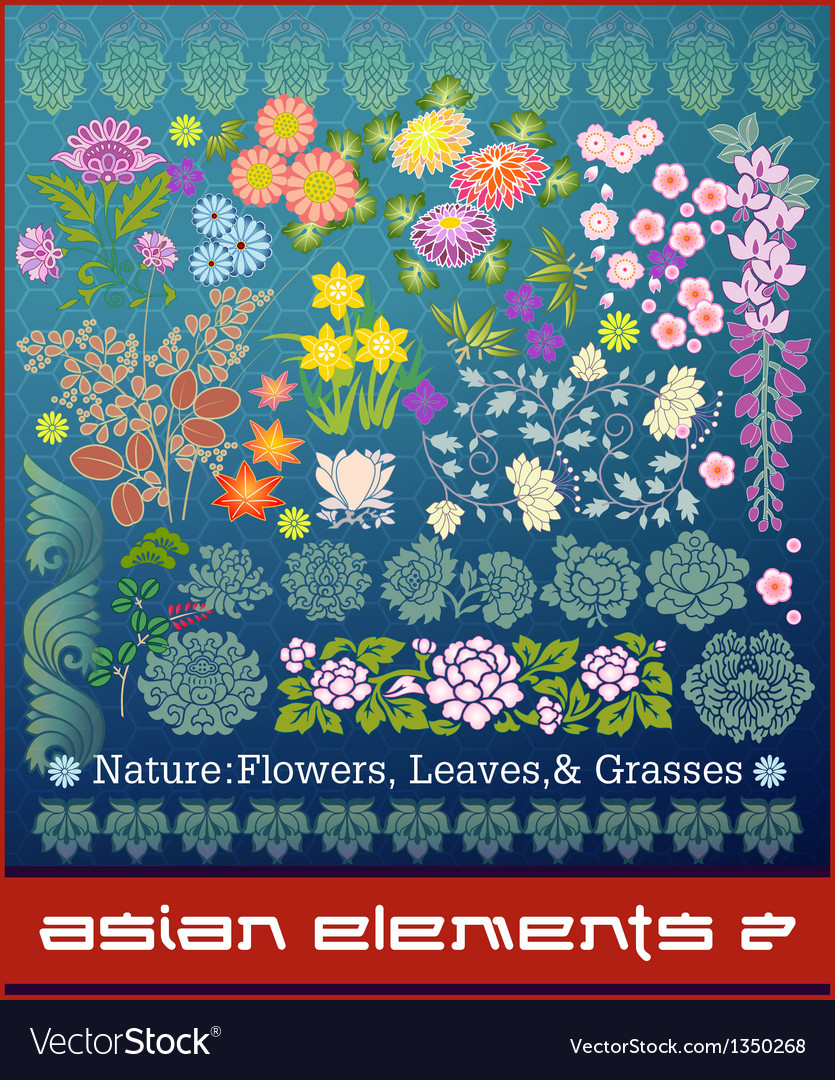 Asian elements vector | Price: 3 Credit (USD $3)