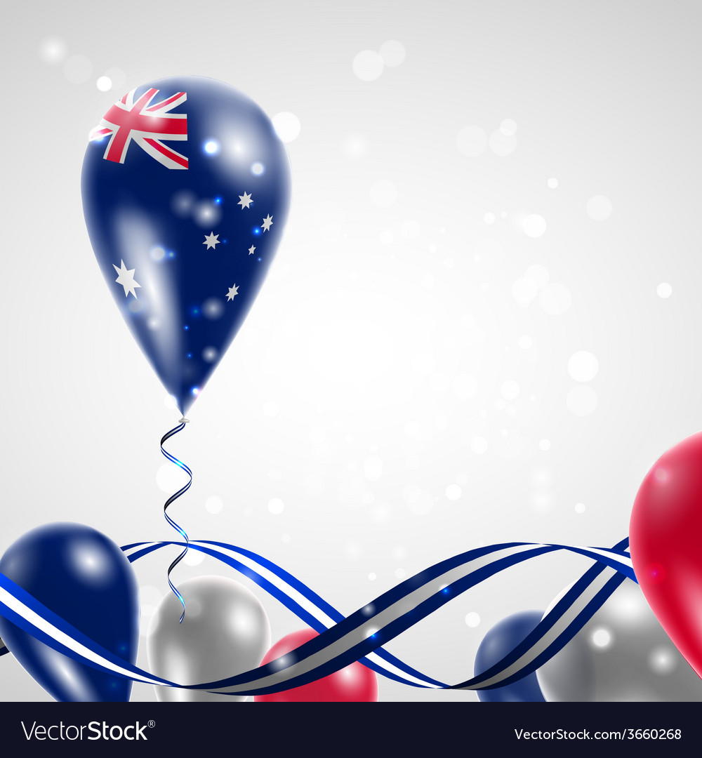 Australian flag on balloon vector | Price: 1 Credit (USD $1)
