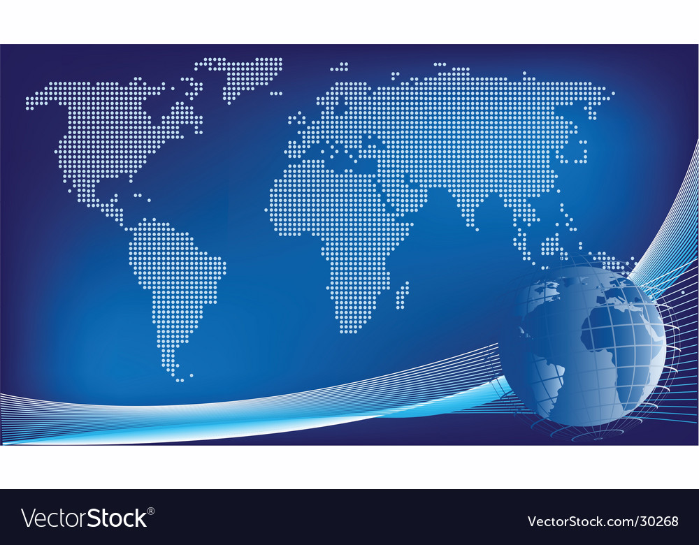 Global design background vector | Price: 1 Credit (USD $1)