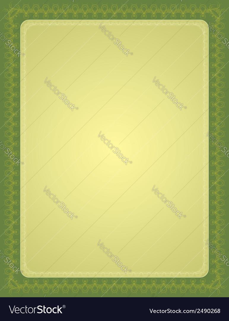 Green certificate background vector | Price: 1 Credit (USD $1)