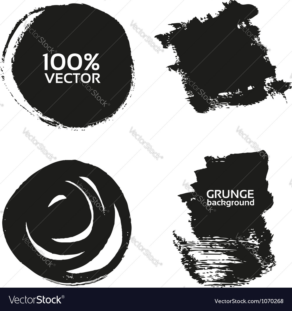 Grunge handmade black strokes- backgrounds vector | Price: 1 Credit (USD $1)