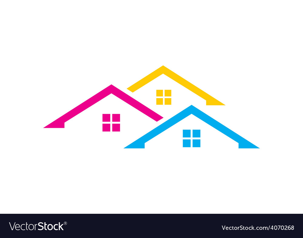 Home realty colorful logo vector | Price: 1 Credit (USD $1)
