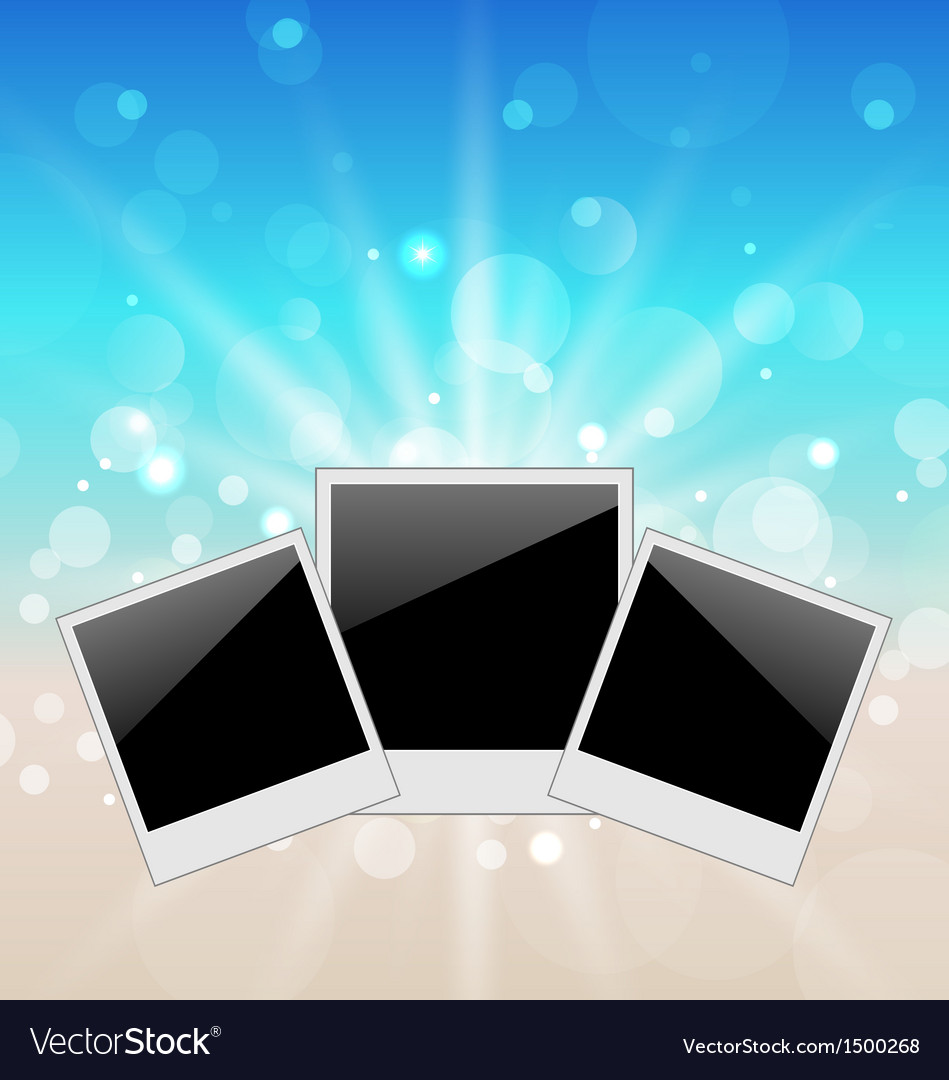 Set pictures on seascape background vector | Price: 1 Credit (USD $1)