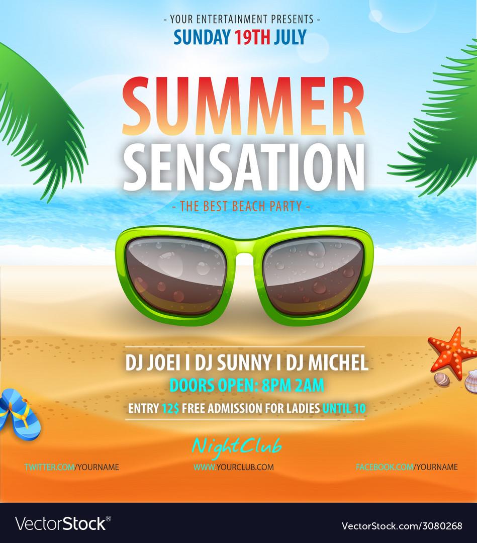 Summer sensation vector | Price: 3 Credit (USD $3)