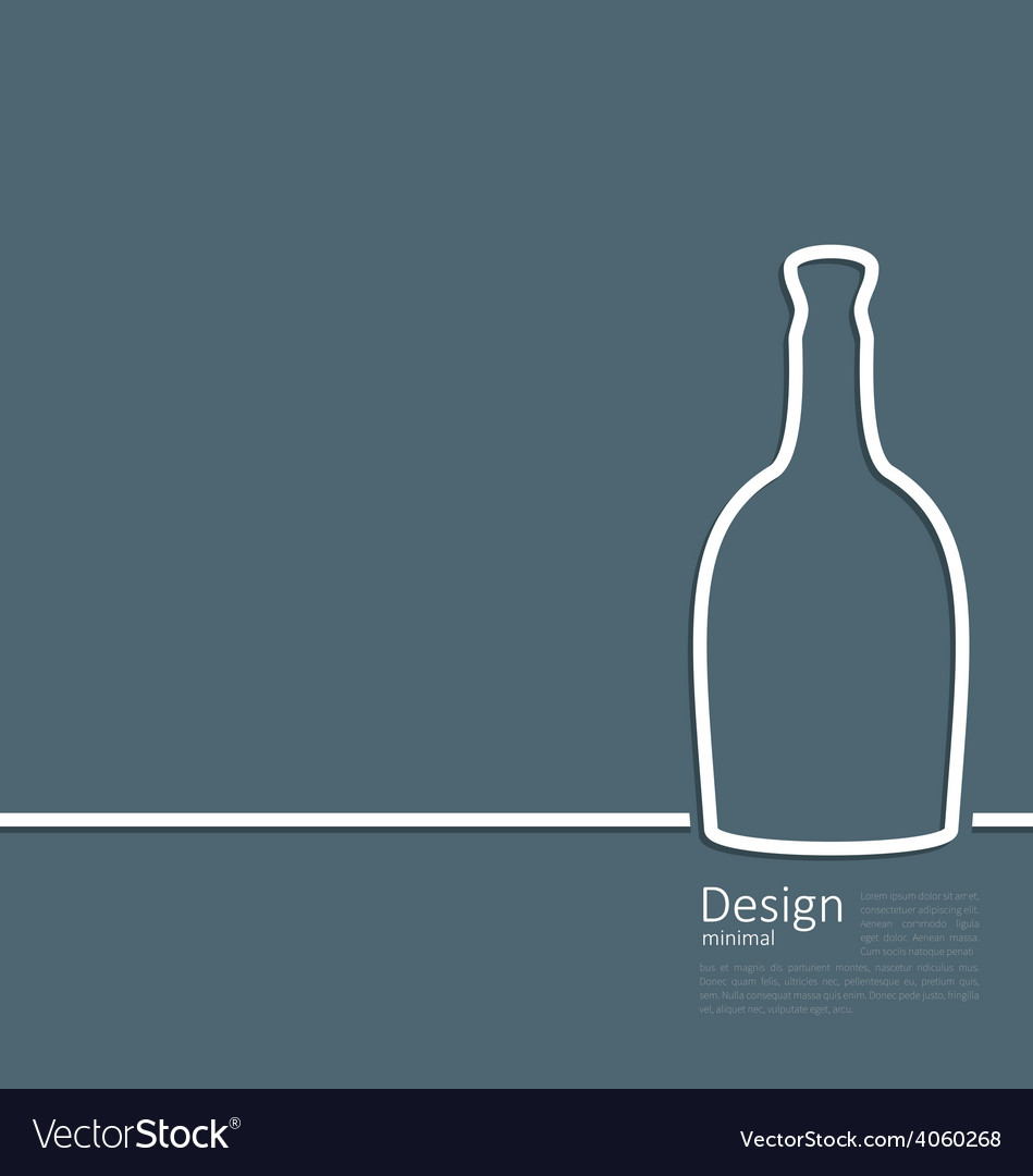 Web template logo of bottle wine in minimal flat vector | Price: 1 Credit (USD $1)