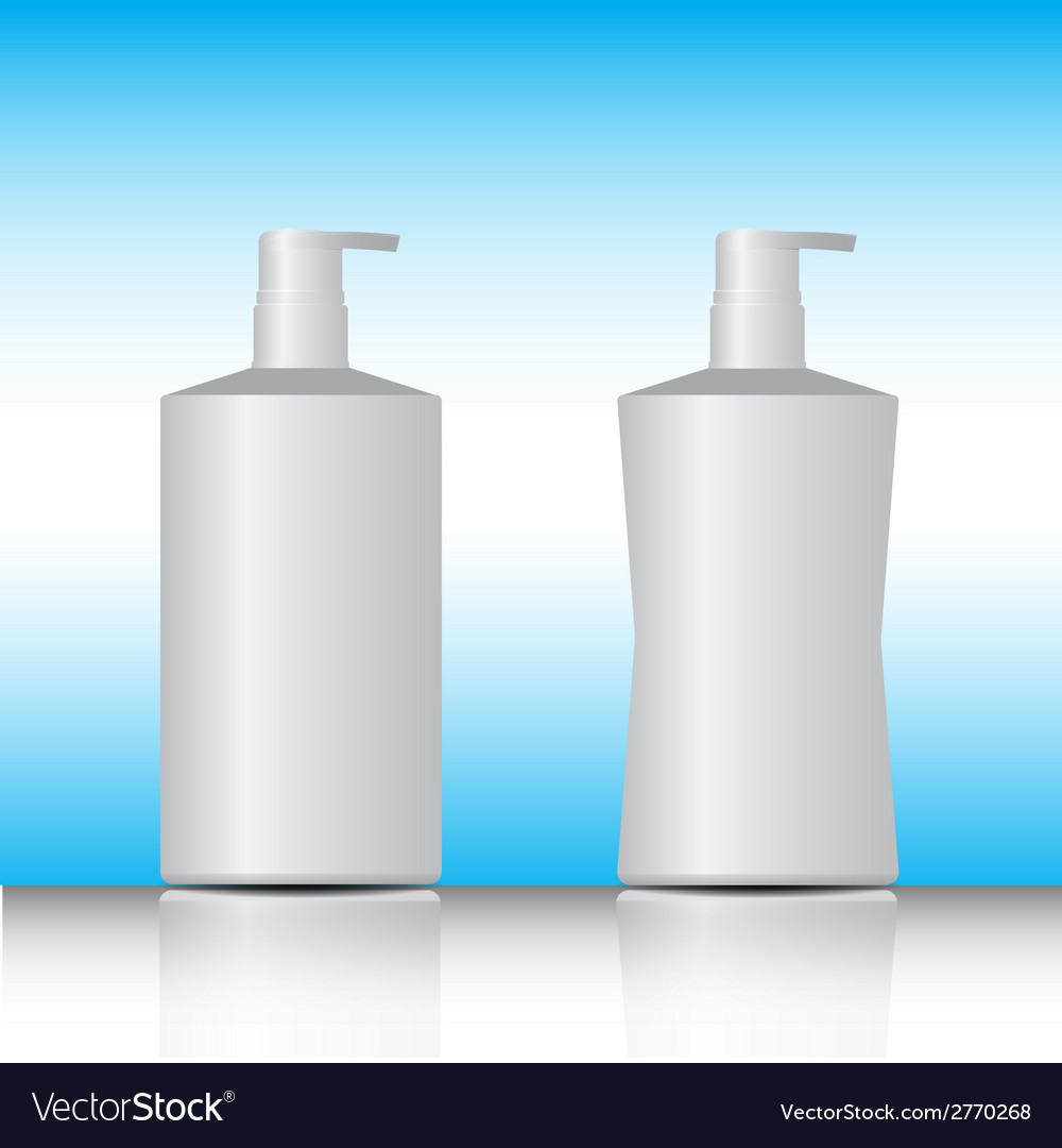 White pump bottle vector | Price: 1 Credit (USD $1)