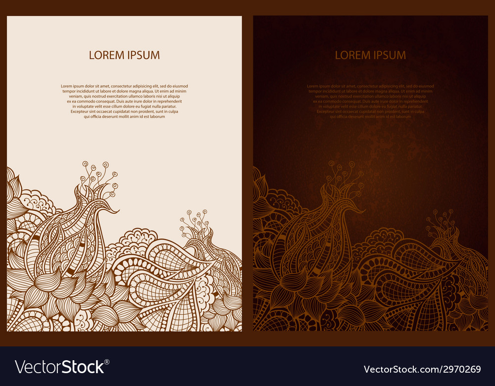 Abstract decorative old-fashioned vintage template vector | Price: 1 Credit (USD $1)